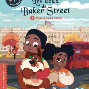 Couverture roman jeunesse bilingue 8+ Les deux de Baker Street tome 1