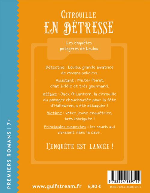 Quatrième de couverture roman jeunesse 7+ Citrouille en détresse