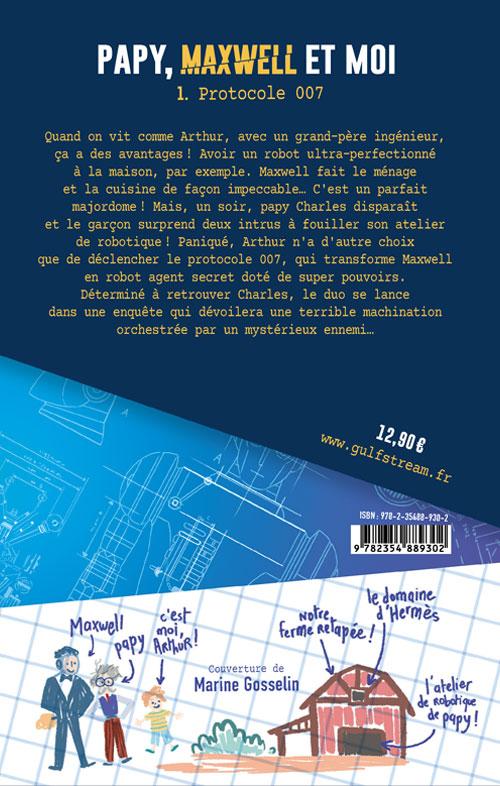 Quatrième de couverture Papy, Maxwell et moi tome 1