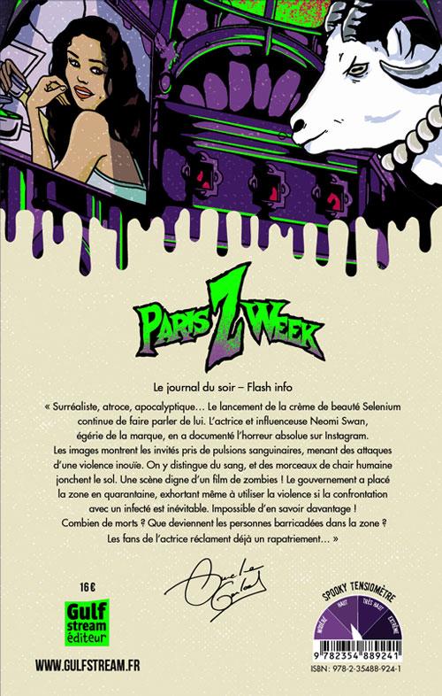 Quatrième de couverture roman 13+ Paris Z Week